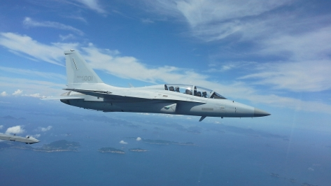 An FA-50 Golden Eagle in flight. Photo courtesy of Korea Aerospace Industries thru Flickr.