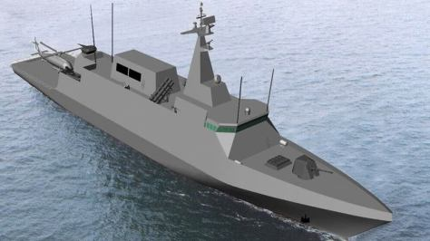 An artist's computer graphic rendition of Navantia's Avante 1800.
