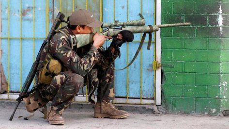 A government soldier with an M24 Rifle. Photo courtesy of the Philippine Star