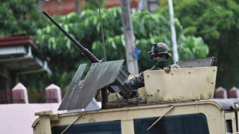 A Browning M2 Heavy Machine Gun with Gun Shield atop a vehicle. Photo courtesy of ABS-CBN