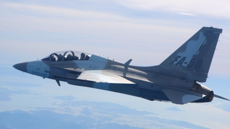 FA-50 in flight. Photo courtesy of the Malaysia Flying Herald website
