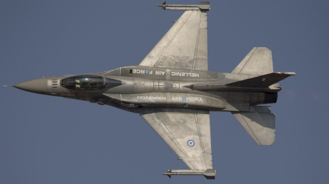 An F-16C Block 50/52+ of the Hellenic Air Force in Flight. Photo courtesy of Spyros Nannos thru Flickr