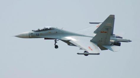 A Chinese SU-30MKK Flanker-G. Photo courtesy of the Defence Forum India website