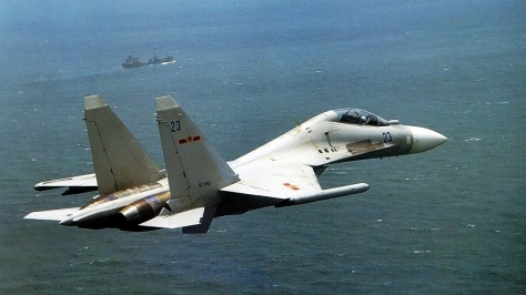 A Chinese SU-30MKK Flanker-G. Photo courtesy of the fyjs.cn Website