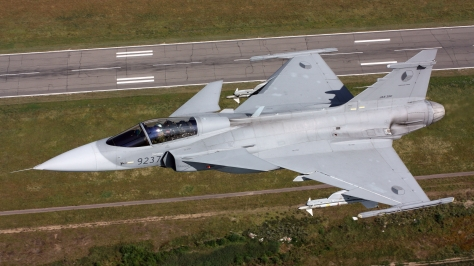 A JAS-39C Gripen of the Czechoslovakian Air Force. Photo courtesy of Saab AB thru Flickr