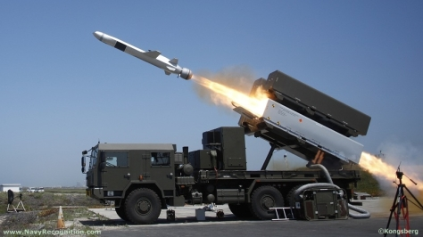 A Naval Strike Missile (NSM) in action. Photo courtesy of the Kongsberg Website