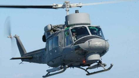 An AB212 Helicopter. Photo courtesy of Luigino Caliaro thru the Aerophoto Website