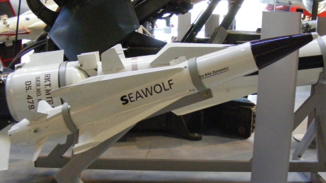 The Sea Wolf Surface to Air Missile which proved to be effective during the Falklands War. Photo courtesy of Wikipedia Commons.