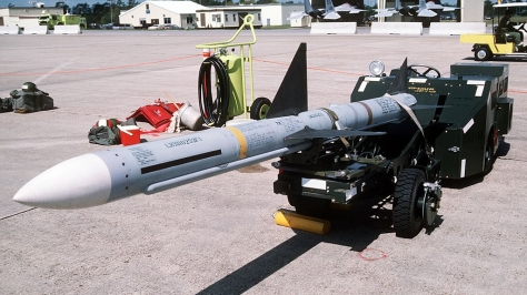 An AIM-7 Sparrow Missile. Photo courtesy of Wikipedia Commons.