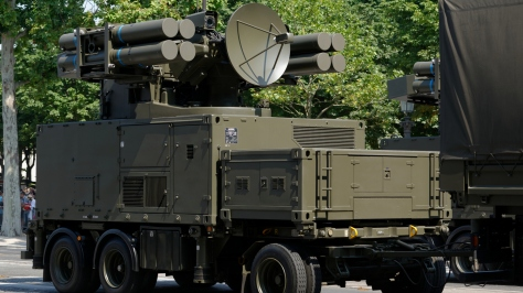A Crotale SAM system mounted on an Towable Chassis. Photo courtesy of Marie-Lan Nguyen thru Wikipedia Commons.