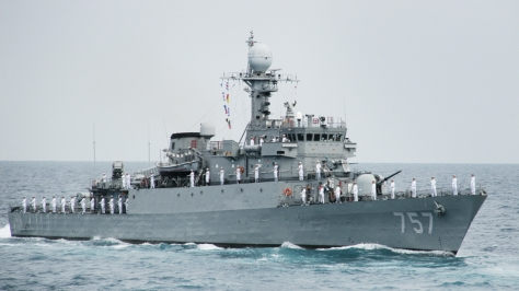 The Pohang-class Corvette PCC 757 Gunsan. Photo courtesy of Jager thru the KODEF website