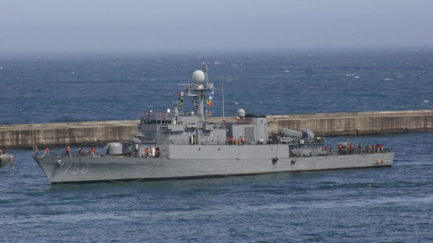 The Pohang-class Corvette PCC 758 Geyongju. Photo courtesy of the Poder Naval website