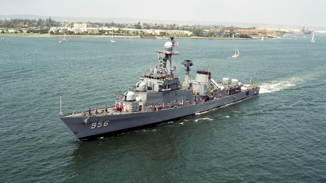 The Ulsan-class Frigate FF-956 Kyong Buk. Photo courtesy of Wikipedia Commons.