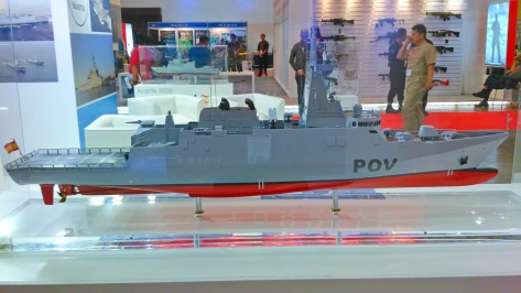A model of the Avante 2200 Combatant at the ADAS 2014 exhibit. Photo courtesy of Roy Kabanlit