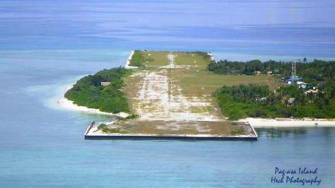 A good view of the poorly maintained airstrip on Pag Asa Island, one of the islands claimed by the Philippines in the Spratly Islands chain