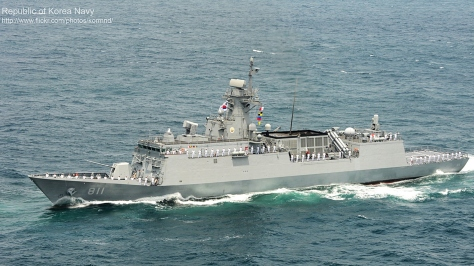 Side view of an HDF-3000-class Frigate. Photo courtesy of the Republic of Korea Navy thru Flickr