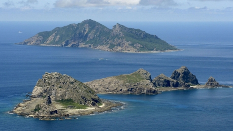 The Senkaku Islands, whose claim by Japan the US had no problems recognizing. Photo courtesy of The Japan Times website