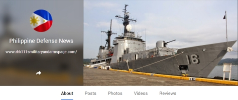 Philippine Defense News Page on Google+
