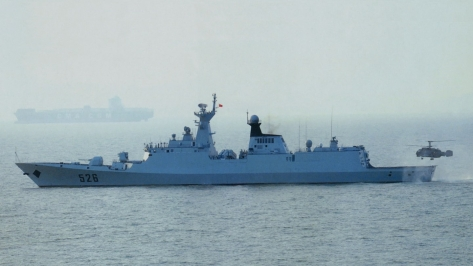 China's latest Frigate, the Type 054 Jiangkai-class. Photo courtesy of the Jeff Head Website