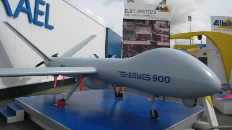 A Hermes 900 Maritime Patrol UAV. Photo courtesy of Matthieu Sontag thru Wikipedia Commons.