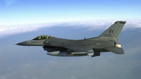An F-16C Fighting Falcon. Photo courtesy of Wikipedia Commons.