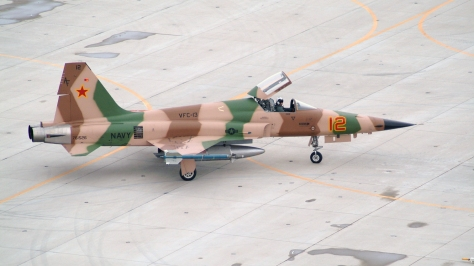 An F-5N of the US Air Force in MIG-23 camouflage pattern. Photo courtesy of Jerry Gunner thru Flickr