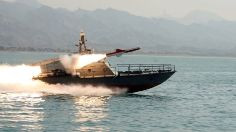 The Iranian Navy's C-14 Chinacat Fast Attack Craft. Photo courtesy of the Global Military Review Blogspot.