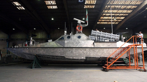 The Iranian Navy's Zolfaghar variant of the IPS-16a Peykaap II Fast Attack Craft. Photo courtesy of Vahid Reza Alaei thru Borna News Agency.