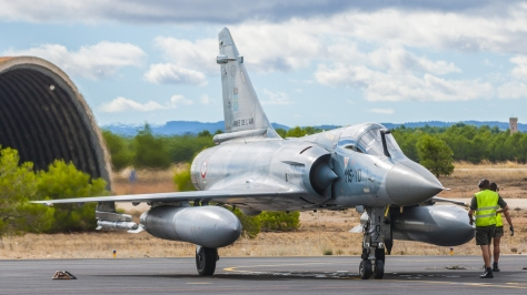 A front view of a Mirage 2000-5F. Photo courtesy of Javier Rodriguez thru Wikipedia Commons.