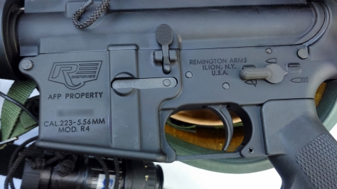 Remington R4 Rifle markings of the Armed Forces of the Philippines. Photo courtesy of Wikimedia Commons