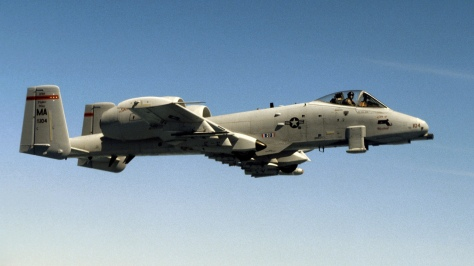 An A-10 Warthog of the US Air Force. Photo courtesy of Wikimedia Commons.