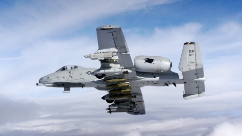 An example of the great load carrying capability of the A-10. Photo courtesy of Wikimedia Commons.
