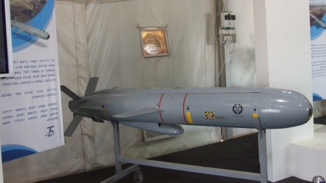 A Delilah missile. Photo courtesy of Natan Flayer thru Wikimedia Commons.