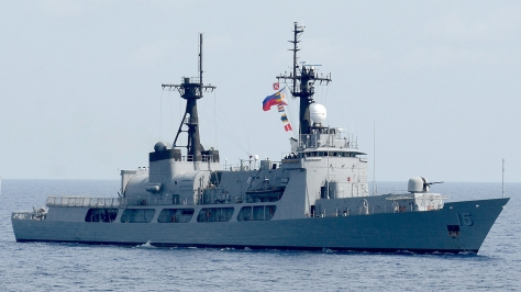The PF-15 BRP Gregorio Del Pilar, the lead ship of the Del Pilar class of ships of the Philippine Navy. Photo courtesy of Wikimedia Commons.