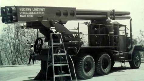 The Bukang Liwayway Rocket Launcher. Photo courtesy of mitch romero thru Youtube.