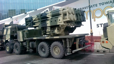 The EXTRA Missiles mounted on the Lynx Launcher of the Azerbaijani Armed Forces. Photo courtesy of the Pakistan Defence Forum.