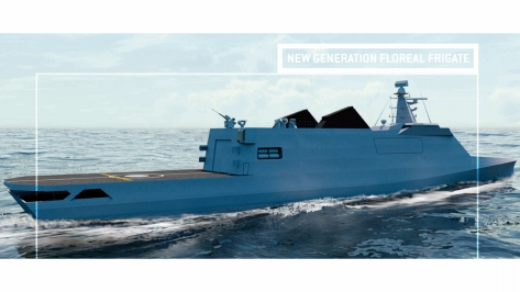 Rear view of the New Generation Floreal Frigate (NG2F). Photo courtesy of the STX brochure.