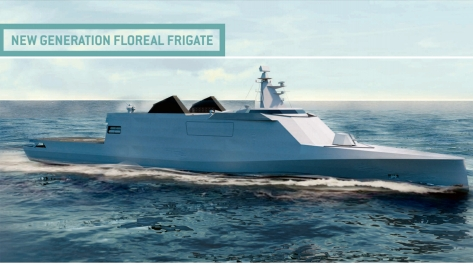 Side view of the New Generation Floreal Frigate (NG2F). Photo courtesy of the STX brochure.