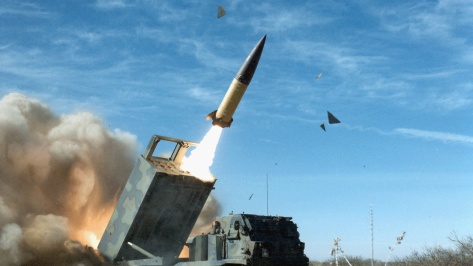 An Army Tactical Missile System (ATACMS) in action. Photo courtesy of Wikimedia Commons.