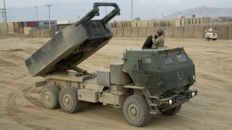 A High Mobility Artillery Rocket System (HIMARS). Photo courtesy of Wikimedia Commons.