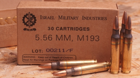 M193 Ball 5.56 x 45 mm ammunition. Photo courtesy of ZQI Ammunition.
