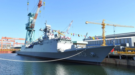 The Incheon class Frigate like this ROKS Jeonbuk (FFG-813) was HHI's entry into the Philippine Navy's Frigate Acquisition Program. Photo courtesy of the Republic of Korea Ministry of Defense account on Flickr.