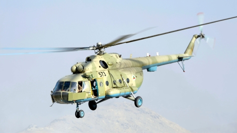 An Mi-17 Hip Helicopter of the Afghan Army Air Corps. Photo courtesy of Wikimedia Commons.