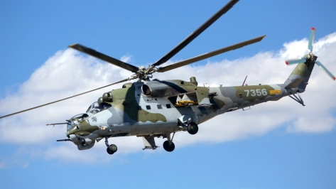 An Mi-35 Hind Helicopter of the Czech Air Force. Photo courtesy of Wikimedia Commons.