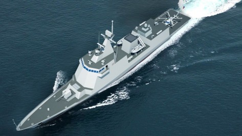 The Philippine Navy's new Frigate. Photo courtesy of Hyundai Heavy Industries (HHI).